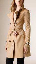 Burberry Skirted Cotton Gabardine Trench Coat