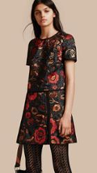 Burberry Floral Jacquard T-shirt Dress