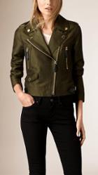 Burberry Linen Cotton Silk Biker Jacket