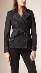 Burberry Brit Slim-fit Denim Trench Jacket