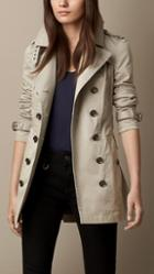 Burberry Brit Cotton Twill Trench Coat