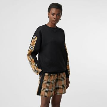 Burberry Burberry Vintage Check Drawstring Shorts, Size: 08, Yellow