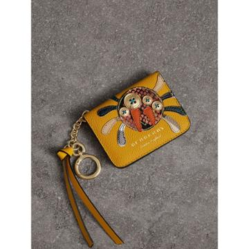 Burberry Burberry Creature Motif Leather Id Card Case Charm