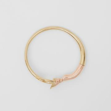 Burberry Burberry Gold And Palladium-plated Hoof And Hoop Bracelet, Size: S