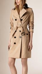 Burberry Lace Collar Cotton Gabardine Trench Coat