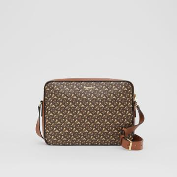 Burberry Burberry Monogram Print E-canvas Messenger Bag, Brown