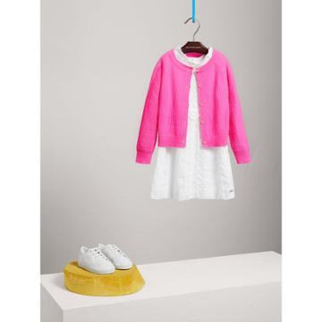 Burberry Burberry Open-stitch Knitted Cashmere Cardigan, Size: 6y