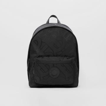 Burberry Burberry Monogram Recycled Polyester Jacquard Backpack