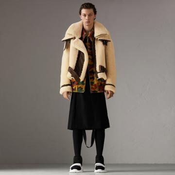 Burberry Burberry Reissued 2010 Shearling Aviator, Size: 36, Beige