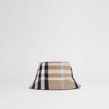 Burberry Burberry Check Cotton Jacquard Bucket Hat, Size: L