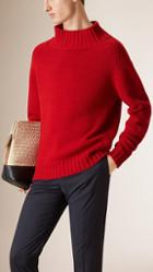 Burberry Prorsum Funnel Neck Wool Jumper