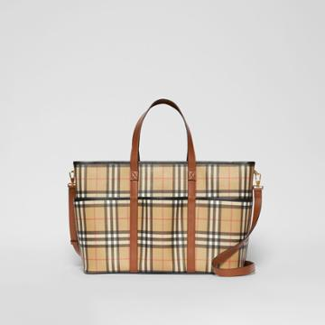 Burberry Burberry Childrens Vintage Check E-canvas Baby Changing Bag, Beige