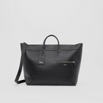 Burberry Burberry Leather Holdall, Black