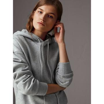 Burberry Burberry Embroidered Hood Fleece-back Jersey Sweatshirt