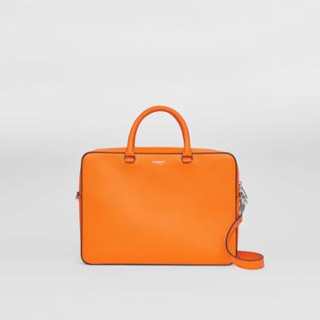 Burberry Burberry Grainy Leather Briefcase, Orange