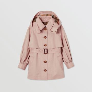 Burberry Burberry Childrens Detachable Hood Cotton Twill Trench Coat, Size: 14y