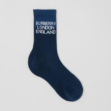 Burberry Burberry Logo Intarsia Technical Stretch Cotton Socks