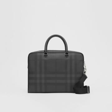 Burberry Burberry London Check And Leather Briefcase, Black
