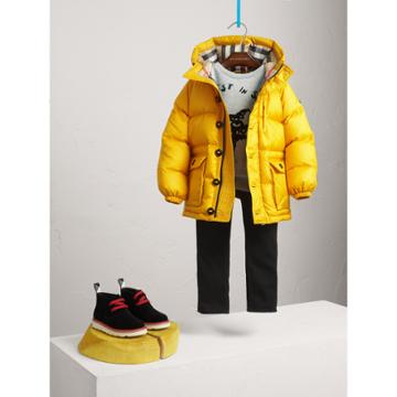 Burberry Burberry Shower-resistant Hooded Puffer Jacket, Size: 5y, Yellow