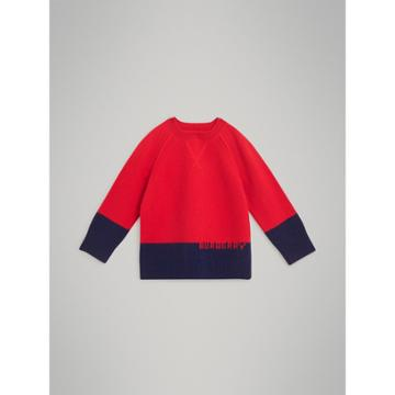 Burberry Burberry Childrens Logo Intarsia Cashmere Sweater, Size: 14y