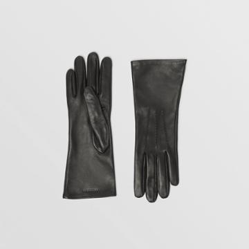 Burberry Burberry Silk-lined Lambskin Gloves, Size: 7, Black