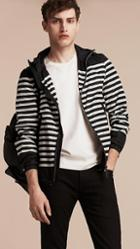 Burberry Striped Hooded Jacket