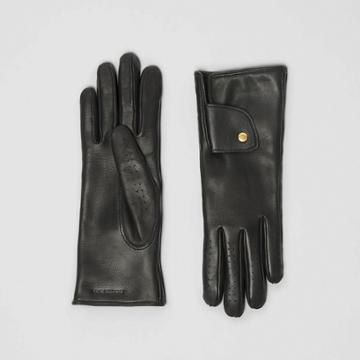 Burberry Burberry Cashmere-lined Lambskin Gloves, Size: 6.5, Black