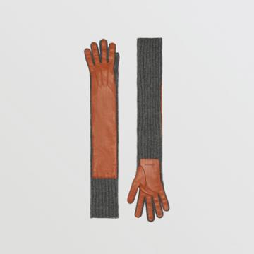 Burberry Burberry Cashmere And Lambskin Longline Gloves