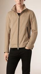 Burberry Cotton Gabardine Jacket With Packaway Hood