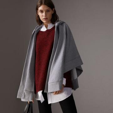 Burberry Burberry Embroidered Jersey Hooded Cape