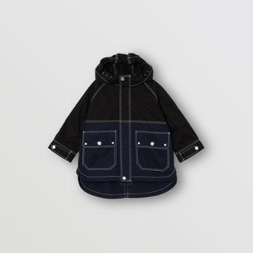 Burberry Burberry Childrens Topstitched Cotton Hooded Jacket, Size: 12m, Black
