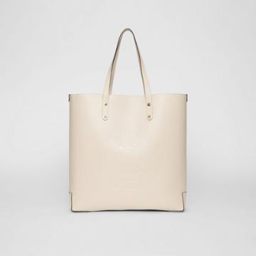 Burberry Burberry Embossed Crest Leather Tote, Grey