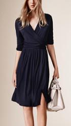 Burberry Jersey Wrap Dress