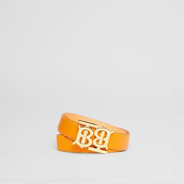 Burberry Burberry Double Monogram Motif Leather Belt