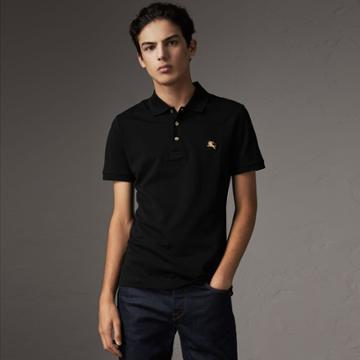 Burberry Burberry Cotton Piqu Polo Shirt, Size: Xs, Black