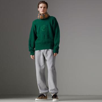 Burberry Burberry Reissued Wool Sweater, Size: M, Green