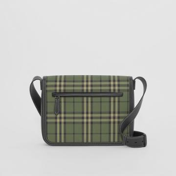 Burberry Burberry Small Check Cotton Messenger Bag