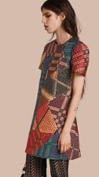 Burberry Patchwork Check Jacquard Dress