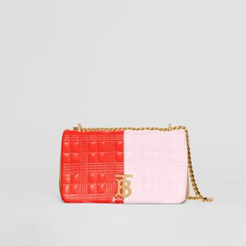 Burberry Burberry Small Quilted Tri-tone Lambskin Lola Bag, Red