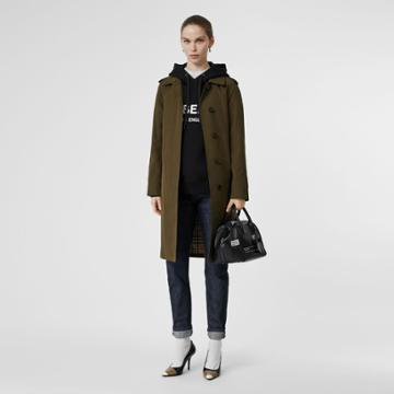 Burberry Burberry Tropical Gabardine Belted Car Coat, Size: 04, Black