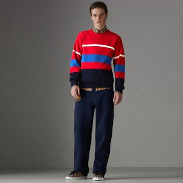 Burberry Burberry Reissued Lambswool Sweater, Red