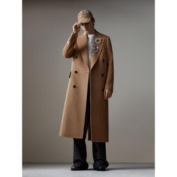 Burberry Burberry Camel Hair Wool Chesterfield, Size: 42, Brown