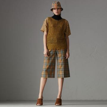 Burberry Burberry Sleeveless Mesh Knit Turtleneck Top