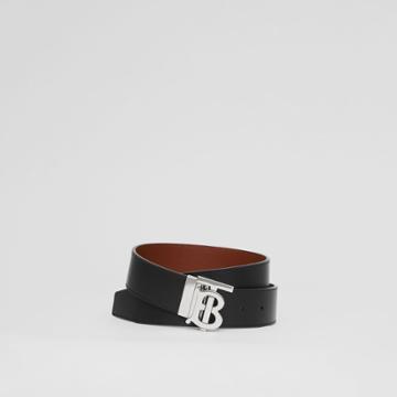 Burberry Burberry Reversible Monogram Motif Leather Belt, Size: 90
