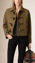 Burberry Brit Cropped Wool And Cashmere Blend Duffle Jacket