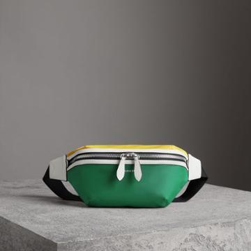 Burberry Burberry Tri-tone Nylon And Leather Bum Bag, Green