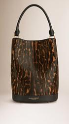 Burberry The Bucket Bag In Animal Print Calfskin