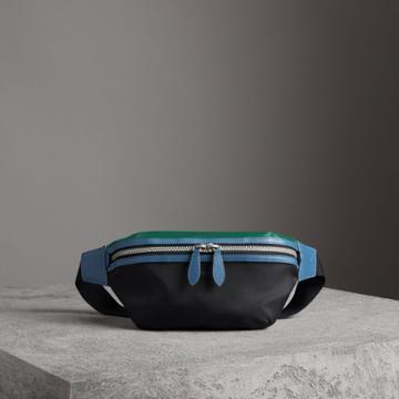 Burberry Burberry Tri-tone Nylon And Leather Bum Bag, Black