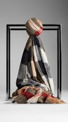Burberry Check Crinkled Cashmere Scarf