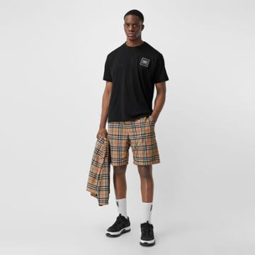 Burberry Burberry Vintage Check Technical Twill Shorts, Beige